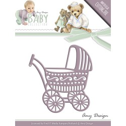 Wykrojnik Amy Design - Baby Collection - Baby Carriage